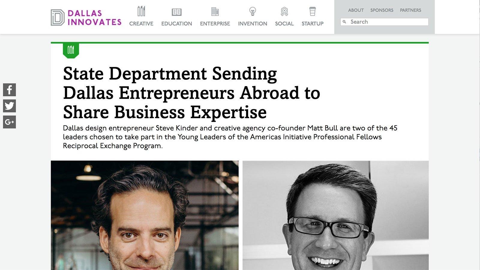 State Dept Sending Entrepreneurs Abroad to Share Expertise